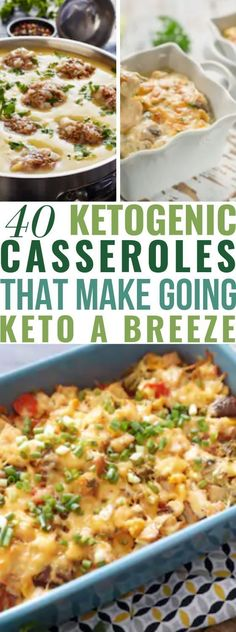 40 Keto Casseroles for Weight Loss. These low carb, high fat keto diet recipes will fill you up and help with weight loss? We're sharing 40 easy keto one-pan casserole recipes to get you into ketosis. Healthy Recipes, Ketogenic Recipes, Low Carb Recipes, Diet Recipes, Chicken Recipes, Yam Recipes, Vegetarian Recipes, Atkins Recipes, Cheap Recipes