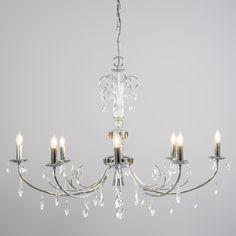 Kronleuchter Padova 8 chrom Wunderschöner Kristall- Kronleuchter, eine harmonische Verbindung zwischen Klassik und Moderne.  #lampenundleuchten.at #Pendelleuchte #Kronleuchter #Innenbeleuchtung