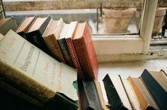 Window sill, books, a slice of garden outside -- home!