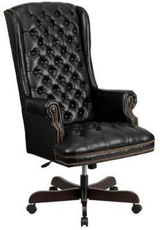 Flash Furniture High Back Traditional Tufted Black Leather Executive Swivel Office Chair – Executive Home Office Design High Back Office Chair, Black Office Chair, Swivel Office Chair, Ergonomic Office Chair, Best Leather Sofa, Black Leather Sofas, Bonded Leather, Leather Chairs, White Leather