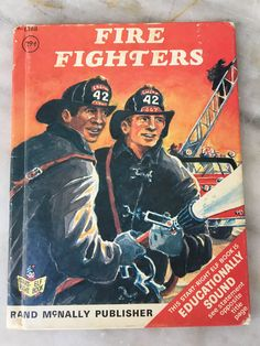 vintage Fire Fighters book by Bruce Grant, Jack Merryweather, Rand McNally, 1971, children's small hardback, 8168 by MotherMuse on Etsy