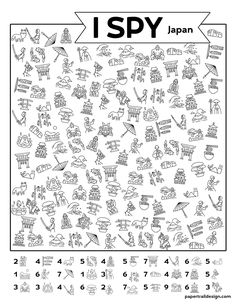 Print our I spy Japan activity page for a fun enriching activity for kids to do while stuck indoors. They won't even realize they are learning. Holiday Activities, Classroom Activities, Activities For Kids, First Day Of School, Back To School, Happy Birthday Decor, I Spy Games, Teacher Worksheets, Paper Trail