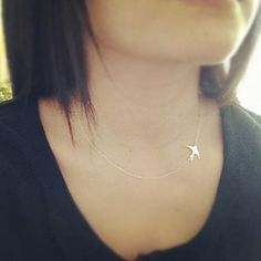 Sterling Silver Swallow Bird Necklace  All Sterling by cocowagner, $23.90