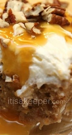 Carrot Poke Cake- just made this for a church picnic and it was a great hit !!!!! Keeper Recipe