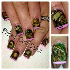 Camo Nails - these will show up on my nails in some variation! Camo Nail Art, Camouflage Nails, Camo Nails, Deer Nails, How To Do Nails, Fun Nails, Pretty Nails, Nice Nails, Classy Nails