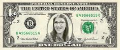 Amy Farrah Fowler - Mayim Bialik - Real Dollar Bill Cash Money Collectible Memorabilia Celebrity Novelty Bank Note Dinero Currency by Vincent-the-Artist, $7.77 USD
