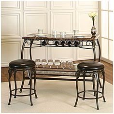 Counter Height Marquee 3-Piece Bar Set : Counter Height Marquee 3-Piece Bar Set at Big Lots. More