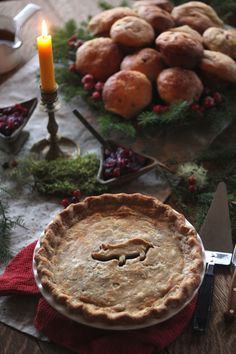 A French-Canadian pie made with ground beef and pork and christmas spices. A French-Canadian pie made with ground beef and pork and christmas spices. Canadian Cuisine, Canadian Food, Canadian Snacks, Canadian Recipes, French Meat Pie, Canadian Christmas, Kitchen Vignettes, Pbs Food, Good Food