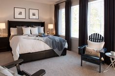 Adirondack chairs used in the bedroom interior design