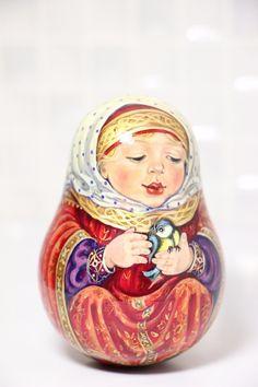 Rolypoly 9cm Hand Painted by The Artist Olga Tolstikhina | eBay