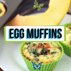 Healthy Breakfast Egg Muffins with Spinach [Gluten free, High Protein] Egg Muffins are the best make ahead, high protein breakfast that'll keep you full for hours; they are a delicious healthy idea for a morning meal that's portable. This vegetarian, gluten free recipe is filled with veggies and can be made in advance for meal prep because they keep well in the freezer. Be sure to add a side of carbohydrates to this low carb breakfast recipe. #breakfastrecipes #eggs #eggmuffins #highprotein… Healthy Egg Breakfast, High Protein Breakfast, High Protein Snacks, High Protein Low Carb, Breakfast Recipes, Breakfast Ideas, High Protein Muffins, Dinner Recipes, Vegetarian Recipes Videos