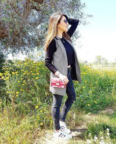 page 120 of 366 ✩  Gilet and bag @tankfashion_com #happy #girl #smile