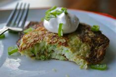 Zucchini Fritters - makes 8 small fritters (total 11 P+) so that's 3 P+ for 2 fritters