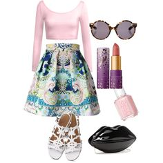 A fashion look from February 2015 featuring Mary Katrantzou skirts and Proenza Schouler sunglasses. Browse and shop related looks.
