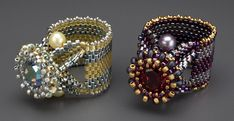 beaded rings, have to try this
