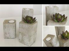 DIY: Stylische Deko-Kerzenleuchter aus Beton einfach selber machen   Deko Kitchen