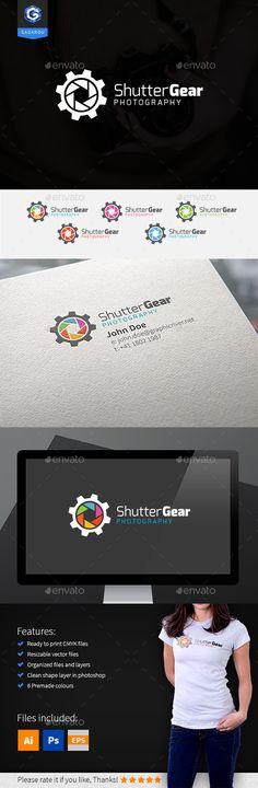 Shutter Gear Logo — Photoshop PSD #aperture #photography • Available here → https://graphicriver.net/item/shutter-gear-logo/9430939?ref=pxcr