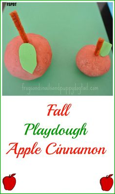 Apple Cinnamon Playdough & how to make apples out of it - FSPDT