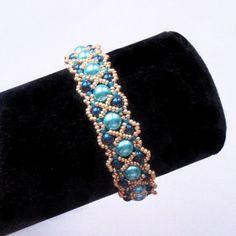 Bracelet tutorial bracelet pattern seed beads pattern pearls bracelet tutorial DIY jewelry wide cuff pattern beading tutorial ALANDHA by Extrano Diy Jewelry, Beaded Jewelry, Handmade Jewelry, Jewelry Making, Beaded Bracelets, Jewelry Tools, Beaded Bead, Jewelry Storage, Crystals