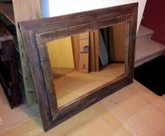 Rustic Mirror Frame Out of Pallets | Pallet Furniture DIY