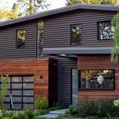 Best Modern Cedar Horizontal Wood Siding Home With Dark 400 x 300