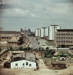 Stalinstadt (later: Eisenhüttenstadt) (1960)-To safeguard GDR steel production and build up heavy industry (a central objective of the first Five-Year Plan), the SED's 3rd Party Congress (July 20-24, 1950) resolved to build the Eisenhüttenkombinat Ost [Steelworks Combine East]. At the same time, party members decided that an adjacent residential city would be built from the ground up to house employees of the new plant. (Here, comparisons can be drawn to the model city of Wolfsburg, in Lower…