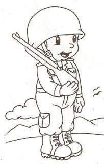 60 Atividades E Desenhos Para O Dia Do Soldado Soldado Para