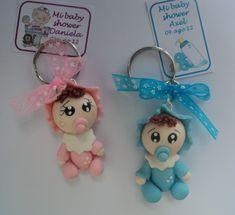 Recuerdo Llavero De Bebe Pasta Francesa Baby Shower Bautizo ...