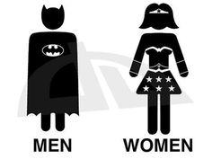 I've been looking for a bathroom sign.Batman and WonderWoman Toilet by L - Batman Canvas Art - Trending Batman Canvas Art - I've been looking for a bathroom sign.Batman and WonderWoman Toilet by LucaGiorgi on deviantART Batman Bathroom, Superhero Bathroom, Bathroom Pass, Bathroom Signs, Restroom Signs, Funny Bathroom, Bathroom Symbol, Bathroom Doors, Washroom Signage