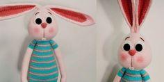 Nuevo patrón en el blog. ¡Esta vez os traigo un precioso amigurumi conejo de 50cm de alto! La traduc