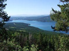 Whitefish Lake from Big Mountain, Montana