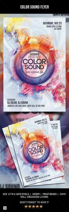 #Color #Sound #Flyer - Clubs & Parties Events