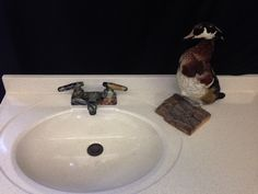 """4"""" green camouflage lavatory faucet"""