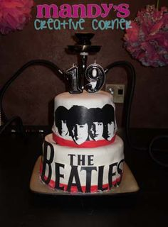 Beatles birthday cake  HAPPY BIRTHDAY TO ME!  it's totally me <3