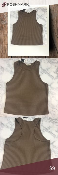 Bozzolo | Ribbed Crop | Used good condition•High neck• Ribbed• Crop top• Razor Back• Size M• No known Flaws• Bozzolo Tops Crop Tops