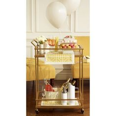 I have no need for this in my apartment but I want it all the same! | Threshold™ Bar Cart - Gold from Target