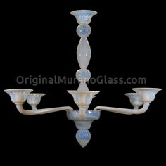 Chandelier Napoli - Liberty - Murano Glass - 6 lights Lighting, Chandeliers & various illumination artworks Available with 6 lights