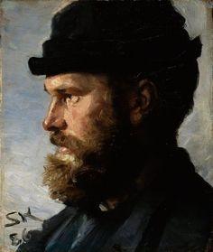 peira:  P.S. Krøyer: Michael Ancher (1886) via Google Art Project
