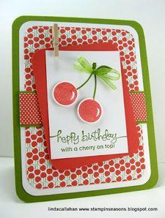 I love the cherries