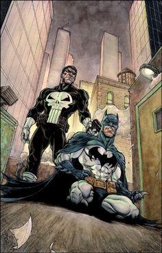 The Punisher vs. Batman by Brad Green