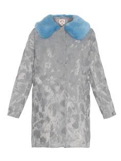 $392, Grey Fur Coat: Shrimps Arizona Faux Fur Coat. Sold by MATCHESFASHION.COM. Click for more info: https://lookastic.com/women/shop_items/171174/redirect