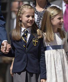 La Princesa Leonor junto a su hermana, la infata Sofía