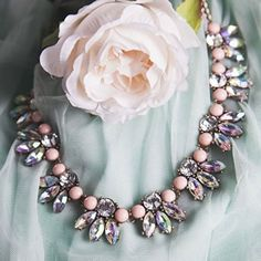 Shine Bright Statement Necklace - #fashion #style #sparkling #potd #statementnecklace #pink #jewelry - 22,90 � @happinessboutique.com
