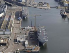 Sevastopol (bottom) and Vladivostok under construction in Saint-Nazaire