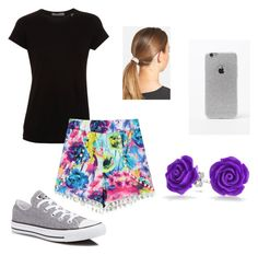 """Untitled #8"" by k-dotson23937 on Polyvore featuring Vince, Converse, L. Erickson, LA: Hearts and Bling Jewelry"