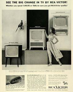 1955 Ad RCA Victor Radio Corp America Remote TV Control Television Deluxe SEP6