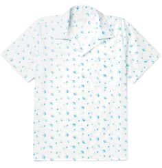 Printed with a painterly falling blossom pattern, <a href='http://www.mrporter.com/mens/Designers/Richard_James'>Richard James</a>' camp-collared shirt is a sprightly option for summer. Cut in Italy, it has a non-restrictive fit that's complemented by the lightness of the cotton-poplin. Keep things simple by wearing it with cuffed tailored trousers.