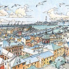 Panoramic of Genoa