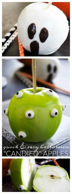 Quick & Easy Halloween Candied Apple