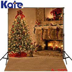 Tigivemen 2019 Christmas Backdrops Vinyl 5x3FT Fireplace Background Photography Studio